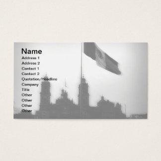 Catedral en el Zocalo del DF con la Bandera 10 Business Card