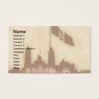 Catedral en el Zocalo del DF con la Bandera 11 Business Card