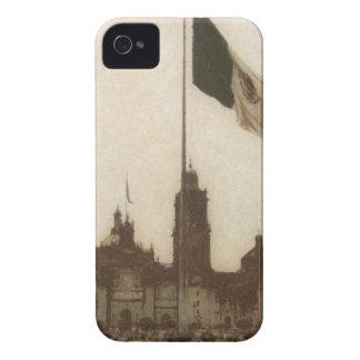 Catedral en el Zocalo del DF con la Bandera 12 iPhone 4 Case