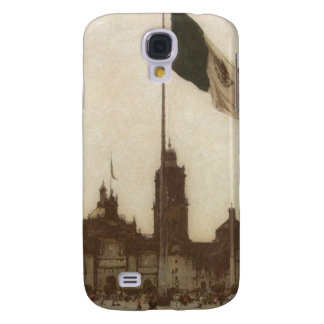 Catedral en el Zocalo del DF con la Bandera 12 Samsung S4 Case
