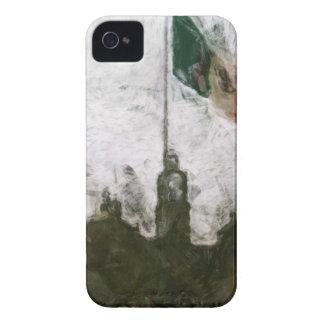 Catedral en el Zocalo del DF con la Bandera 4 iPhone 4 Case-Mate Case