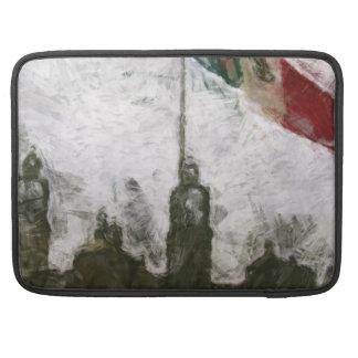 Catedral en el Zocalo del DF con la Bandera 4 MacBook Pro Sleeves