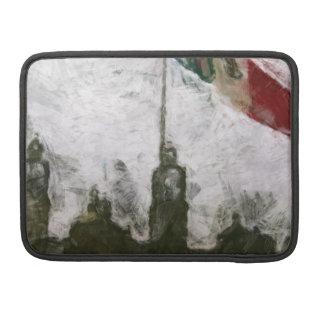Catedral en el Zocalo del DF con la Bandera 4 Sleeves For MacBooks