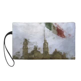 Catedral en el Zocalo del DF con la Bandera 5.jpg Wristlet