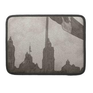 Catedral en el Zocalo del DF con la Bandera 6 MacBook Pro Sleeves