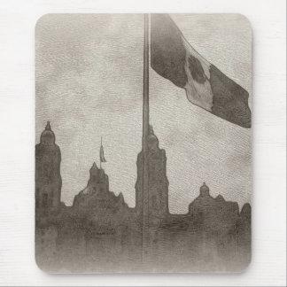 Catedral en el Zocalo del DF con la Bandera 6 Mouse Pad