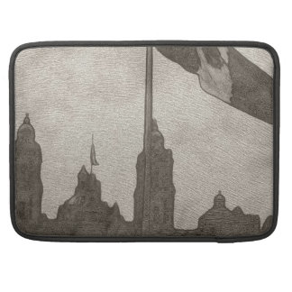 Catedral en el Zocalo del DF con la Bandera 6 Sleeves For MacBooks