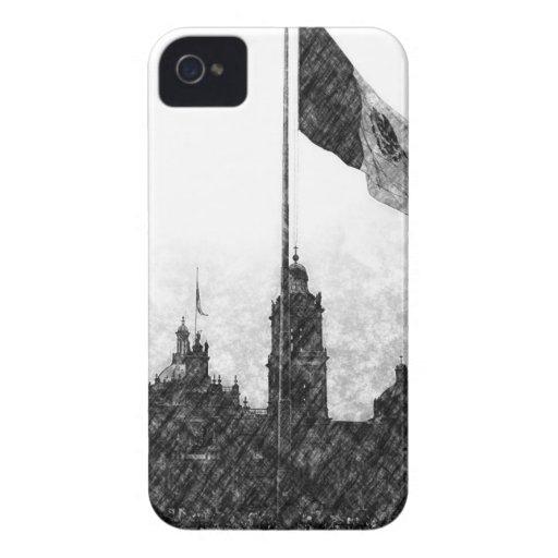 Catedral en el Zocalo del DF con la Bandera 8 Case-Mate iPhone 4 Case