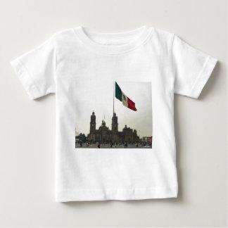 Catedral en el Zocalo del DF con la Bandera Baby T-Shirt