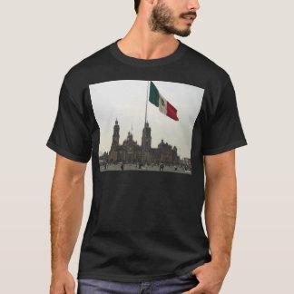 Catedral en el Zocalo del DF con la Bandera T-Shirt