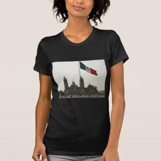 Catedral en el Zocalo del DF con la Bandera Tee Shirt
