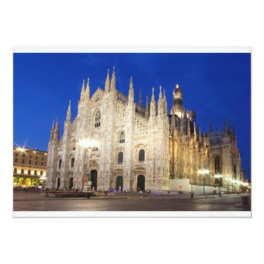 """Catedral en Milano Invitación 5"""" X 7"""""""