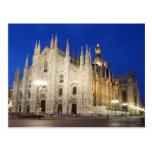 Catedral en Milano Postal
