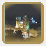 Catedral en Noche-Guayaquil, Ecuador Colcomanias Cuadradas Personalizadas