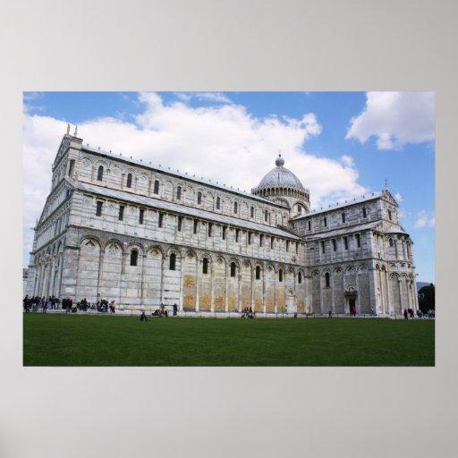 Catedral en Pisa Poster