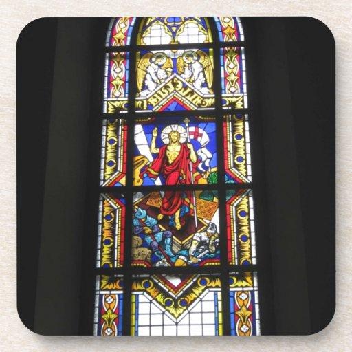 Catedral gótica del católico de la ventana del vit posavaso