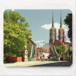 Catedral gótica en Wroclaw Mousepad Tapete De Raton