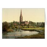 Catedral I, Wiltshire, Inglaterra de Salisbury Tarjetón