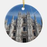 Catedral Italia de Milano Milano de los di del Adorno Navideño Redondo De Cerámica