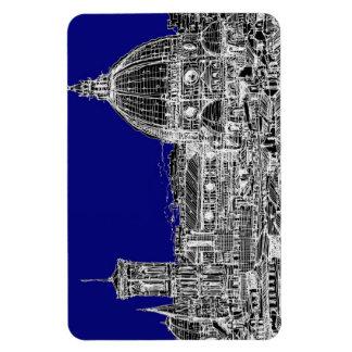 Catedral italiana azul imán