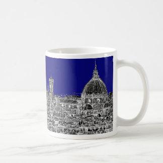 Catedral italiana azul tazas