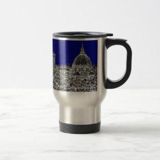 Catedral italiana azul tazas de café