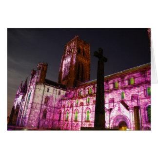 Catedral Lumiere de Durham Tarjeta De Felicitación