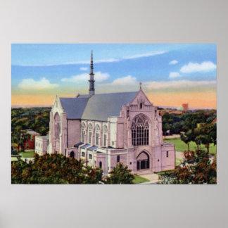 Catedral magnífica del católico de Nebraska de la  Posters