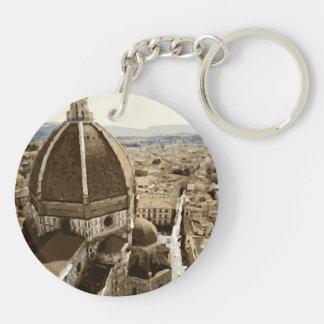 Catedral magnífica del renacimiento en Venecia Llavero Redondo Acrílico A Doble Cara