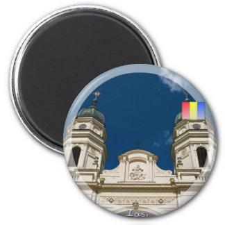 Catedral metropolitana imán redondo 5 cm