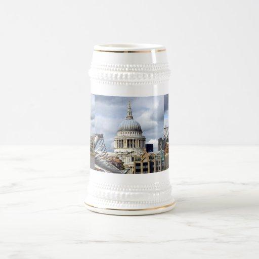 Catedral-Milenio Puente-Londres de S Paul Jarra De Cerveza