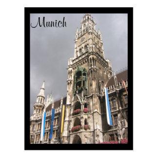 catedral Munich Tarjeta Postal