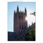 Catedral nacional de Washington en el ocaso Tarjetas