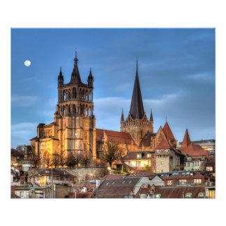 Catedral Notre Dame de Lausanne, Suiza, HDR Cojinete