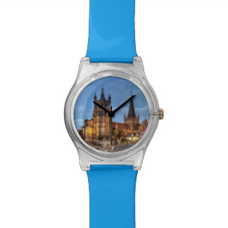 Catedral Notre Dame de Lausanne, Suiza, HDR Reloj