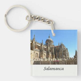 Catedral Nueva de Salamanca Single-Sided Square Acrylic Keychain