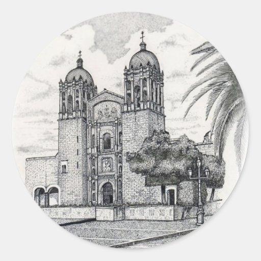 Catedral Pegatina Redonda