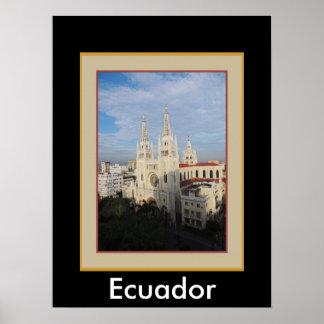 Catedral por la mañana - Guayaquil - Ecuador Póster