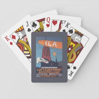 Catedral roja - 1ra exposición aeronáutica cartas de póquer