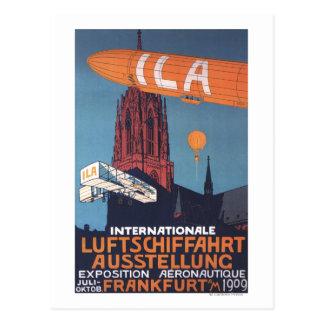 Catedral roja - 1ra exposición aeronáutica postales