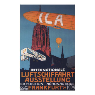 Catedral roja - 1ra exposición aeronáutica póster