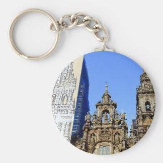 Catedral, Santiago de Compostela, España Llavero Redondo Tipo Pin