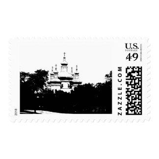 catedral sello postal