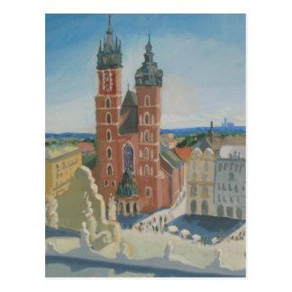 Catedral soleada de Kraków Tarjetas Postales
