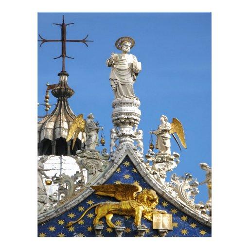 Catedral Venecia Italia de San Marco Membrete Personalizado