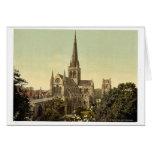 Catedral, vintage Photochrom de Chichester, Inglat Tarjeton