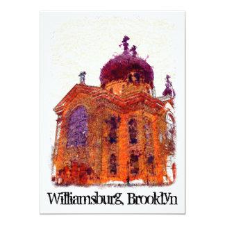 """Catedral, Williamsburg, Brooklyn Invitación 5"""" X 7"""""""
