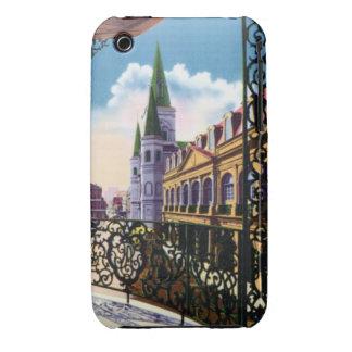 Catedral y balcón de New Orleans Luisiana Funda Bareyly There Para iPhone 3 De Case-Mate