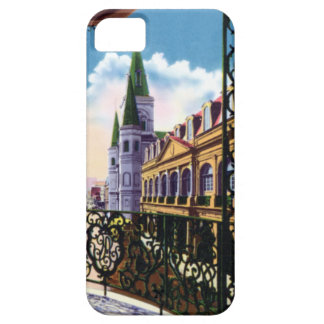 Catedral y balcón de New Orleans Luisiana Funda Para iPhone SE/5/5s