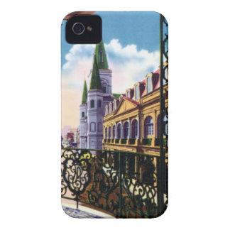 Catedral y balcón de New Orleans Luisiana iPhone 4 Cobertura